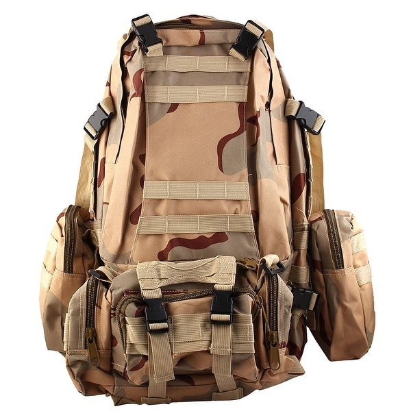 Unique Bargains Outdoor Travel Trekking Camping Hiking Backpack Bag Three Sand Camouflage Color