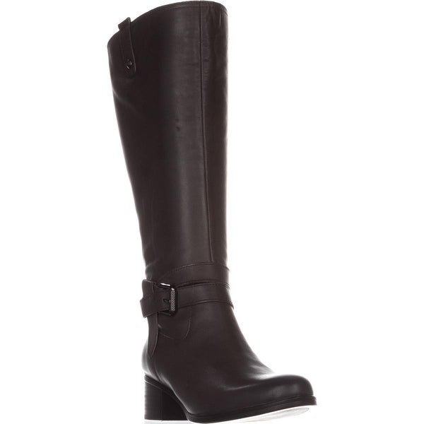 naturalizer Dev Wide Calf Riding Boots, Elephant