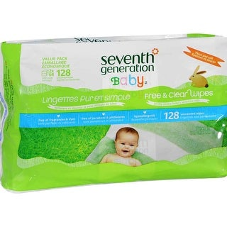 Seventh Generation Baby Wipes, Free&Clr, Refll; EA: 1 - 128 CT