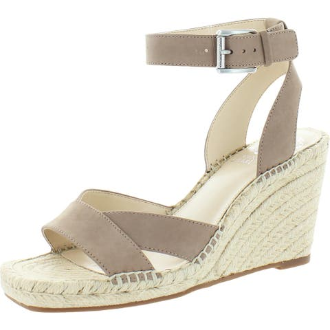 Vince Camuto Womens Meehan Espadrilles Leather Wedge