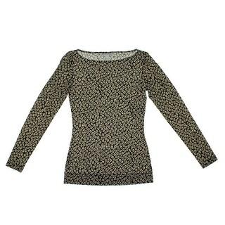 Diane Von Furstenberg Womens Sarita Casual Top Silk Blend Animal Print (Option: S)
