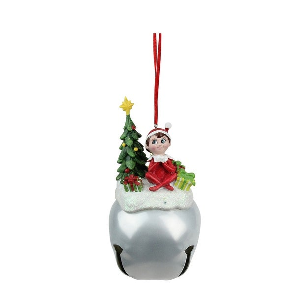 """5.5"""" Elf on the Shelf with Presents Jingle Buddies Christmas Ornament - RED"""