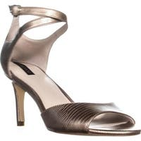 A35 Galeah Criss Cross Ankle Strap Sandals, Champagne