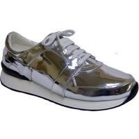 Penny Loves Kenny Women's Techno Sneaker Silver Polyurethane
