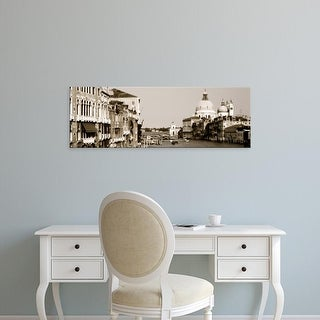 Easy Art Prints Panoramic Images's 'Grand Canal Venice Italy' Premium Canvas Art