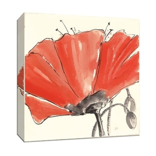 """PTM Images 9-153442  PTM Canvas Collection 12"""" x 12"""" - """"Spring Poppy III"""" Giclee Poppies Art Print on Canvas"""