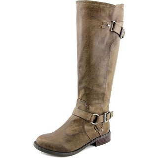 G By Guess Women's Hing Round Toe Leather Knee High Boot