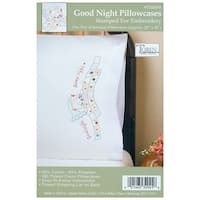 "Stamped Pillowcase Pair For Embroidery 20""X30""-Good Night"