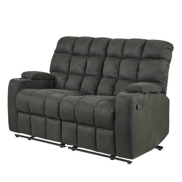 Copper Grove Bielefeld Grey 2 Seat Reclining Storage Loveseat 2 Seat 2 Seat Overstock 23122773