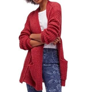 Free People Women's Medium Long Cardigan Wool Sweater