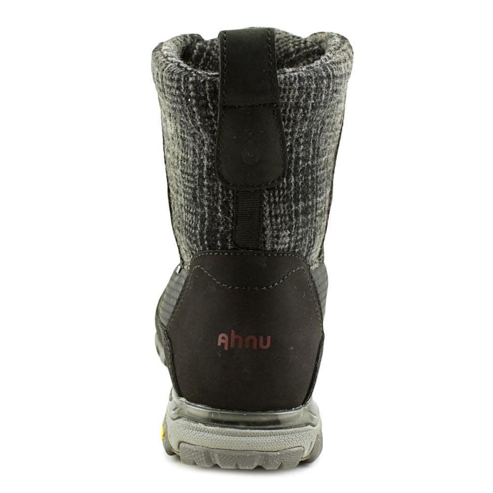 cbfb421dd22 Ahnu Sugar Peak Insulated Wp Women Round Toe Synthetic Black Snow Boot