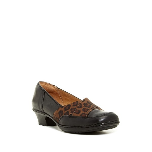 Softspots NEW Black Women's Shoes Size 6W Scarlet Leather Pump