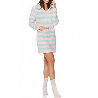 Rhonda Shear NEW Pink Womens 1X Plus Socks & Marshmallow Lounger Gown