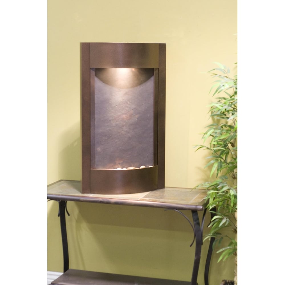 Adagio Serene Waters Fountain w/ Rajah Featherstone in Copper Vein Finish - Thumbnail 0