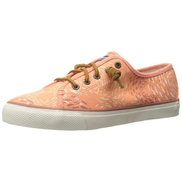 Sperry Womens Seacoast Fish Circle Canvas Low Top Lace Up Fashion Sneakers