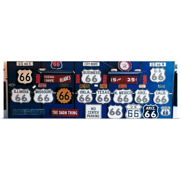"""""""Route 66 Sign Collection"""" Poster Print"""