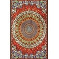 Handmade Cotton Grateful Dead Tapestry Psychedelic Bear Vibrations 60x90 w/loops - Thumbnail 0