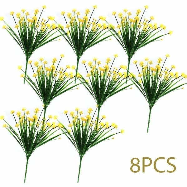 Shop Cewor 8pcs Artificial Flowers Faux Yellow Daffodils