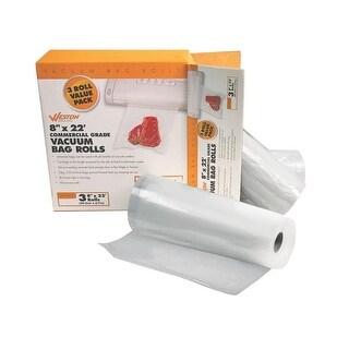 "Weston 30-0201-W Vacuum Sealer Bags, 8"" x 22'"