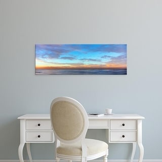 Easy Art Prints Panoramic Image 'Scenic view of ocean at sunset, La Jolla, San Diego, San Diego, California' Canvas Art