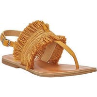 Lucky Brand Women's Akerlei Thong Sandal Saffron Textile