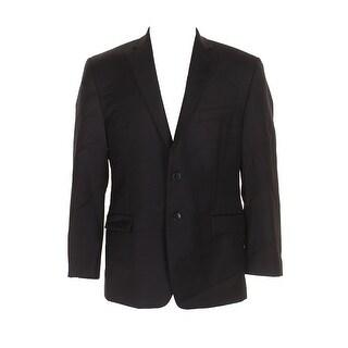 Calvin Klein Black Modern Fit Single Breasted Notch Lapel Blazer 40S