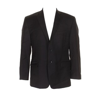 Calvin Klein Black Modern Fit Single Breasted Notched Lapel Blazer 42S