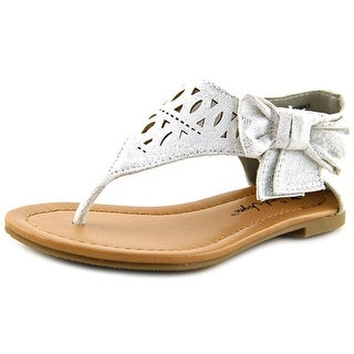 Sarah Jayne GINGER BOW Toddler Open Toe Synthetic White Sandals