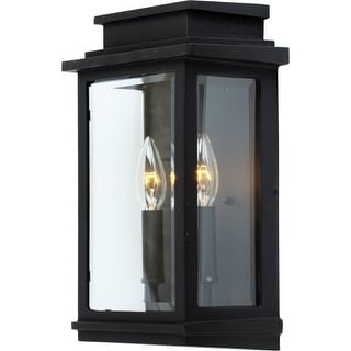 Artcraft Lighting AC8391BK Fremont 2 Light Outdoor Wall Lantern