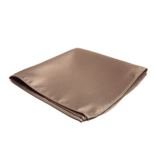 Jacob Alexander Men's Pocket Square Solid Color Handkerchief - One size (Option: Tan)