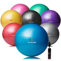 Wacces Exercise Ball for Yoga Fitness Pilates with Dual-Pump