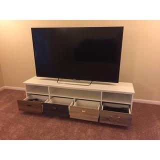 Altra Mercer White 65 Inch Tv Console With Multicolored