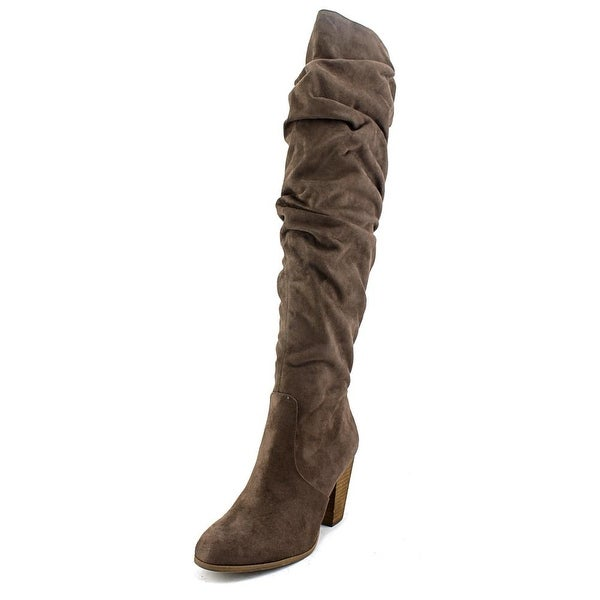 Carlos by Carlos Santana Hazey Women Synthetic Brown Over the Knee Boot