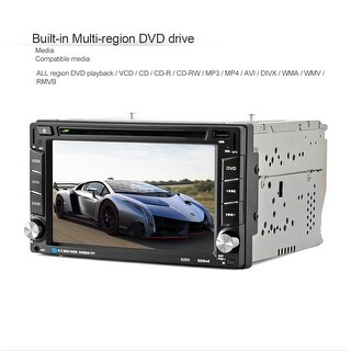 GPS Navigation HD Double 2 DIN Car Stereo DVD Player Bluetooth Radio MP3+ Camera