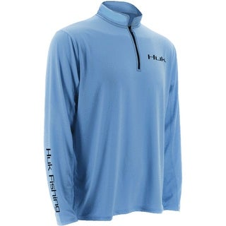 Huk Men's Icon 1/4 Zip Carolina Blue Small Long Sleeve Shirt