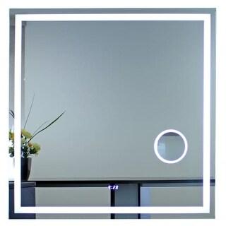 Miseno MM4040LEDMR 40 Inch x 40 Inch Square Frameless Mirror with LED Lighting