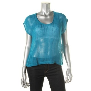 Eileen Fisher Womens Organic Linen Sleeveless Casual Top