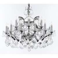 Gallery rococo 19th c 25 light black wrought iron and crystal swarovski elements c rococo crystal chandelier with luxe crystals mozeypictures Gallery