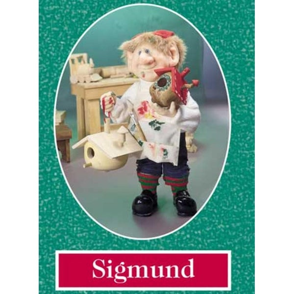 "11"" Zims The Elves Themselves Sigmund Collectible Christmas Elf Figure"