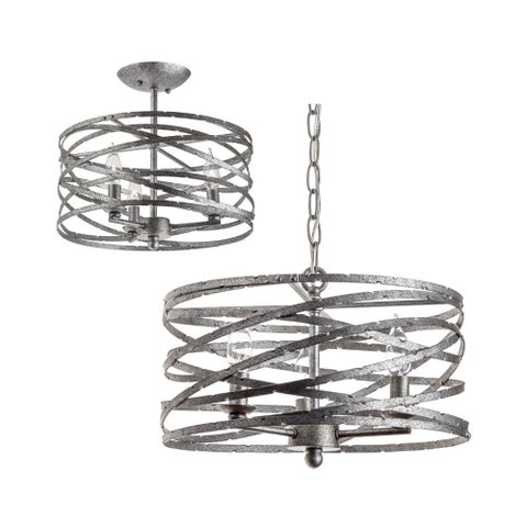 """Miseno MLIT145382 Annata 3-Light Pendant / Ceiling Fixture (Convertible) with 72"""" of Adjustable Chain"""