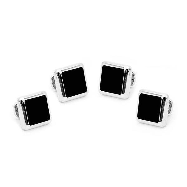 Silver and Onyx JFK Presidential Studs