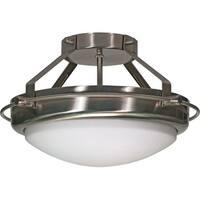 "Nuvo Lighting 60/609 Polaris 2 Light 13-3/4"" Wide Semi-Flush Bowl Ceiling Fixture"