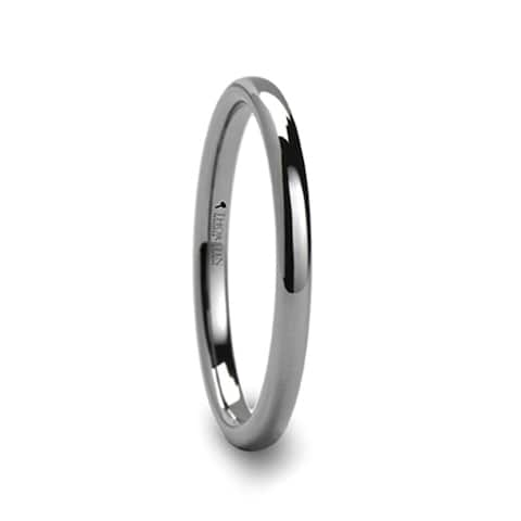 Thorsten Dominus Tungsten Rings for Men Carbide Comfort Fit Domed Tungsten Carbide Wedding Ring Band - 2mm