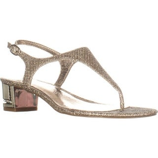 Adrianna Papell Cassidy T-Strap Sandals, Platino (2 options available)