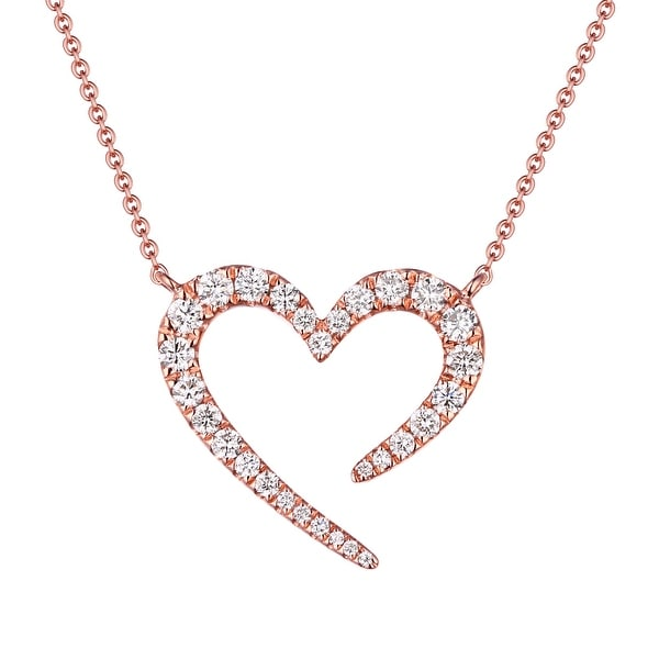 "Prism Jewel Valentine 17"" Necklace With 0.45 Carat Natural Diamond - White"