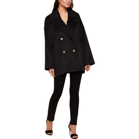 Juicy Couture Black Label Womens Pea Coat Double Breasted Oversized