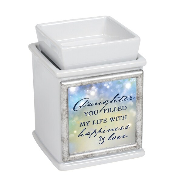 """5"""" Gray Daughter Filled Life With Love Interchangeable Warmer - N/A"""
