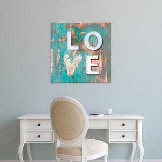 Easy Art Prints Kent Youngstrom's 'Love Patina I' Premium Canvas Art