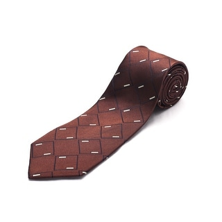Luciano Barbera Men Slim Silk Neck Tie Brown