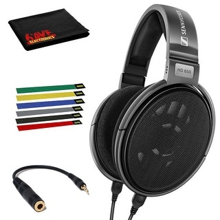 Link to Sennheiser HD 650 Open Back Professional Headphone with 6-Pack Cable Similar Items in Headphones